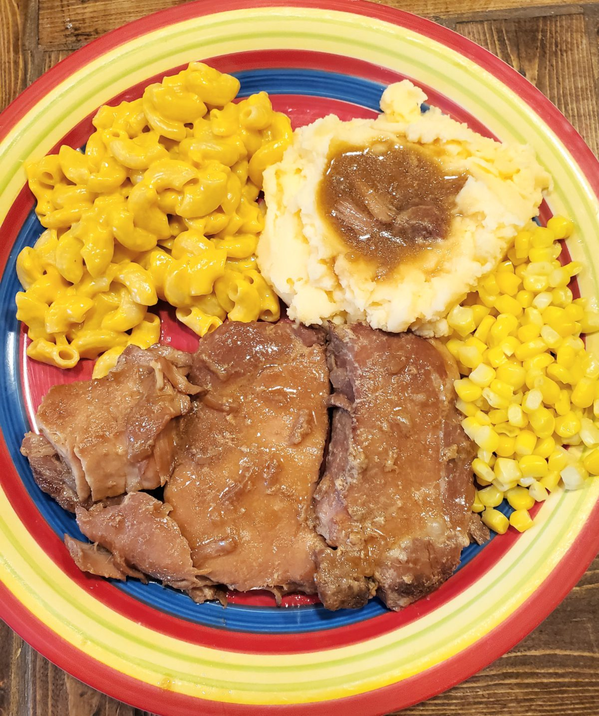 Crockpot Smothered Pork Chops are a go to for a busy day when we need a family night.